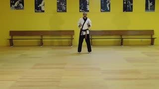 Little Samurang White Belt Blue Tip