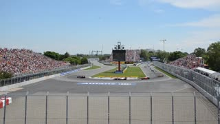 Formula 1 grand prix of Canada opening lap