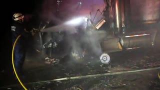 Video: accidente en Santander ocasionó un incendio y dejó sin vida a un motociclista