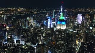 New York City Night 4k Drone