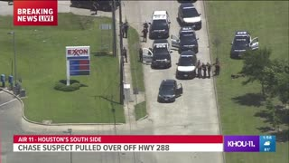 Aggravated Assault Suspect Police Chase Around Houston...