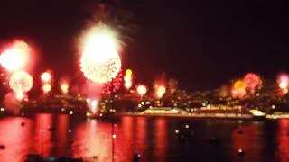 Fireworks Display Near River