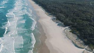Waves, ocean, beach.