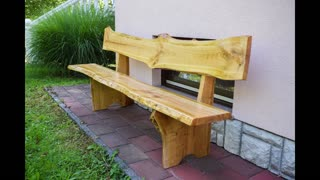 Woodworking: Wooden Cherry Bench
