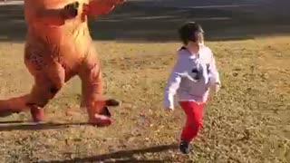 Dinosaur Chases Boy