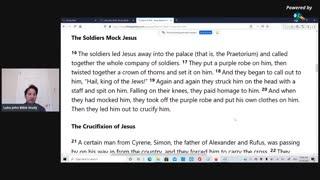 Luke John Bible Study: Mark 15, Part 2, Jesus mocked before crucixion