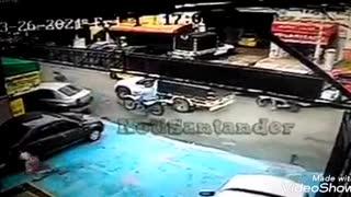 En video quedó registrado ataque de sicarios a hombre en Bucaramanga