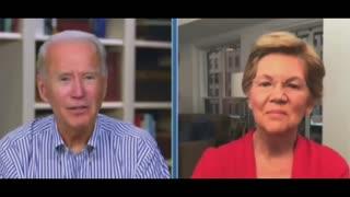 Elizabeth Warren Rolls Her Eyes At Joe Biden's Rambling