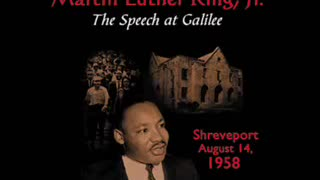 MARTIN LUTHER KING - THE SPEECH AT GALILEE