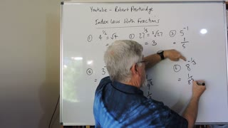 One Minute Math Index Laws With Fractions and Negatives