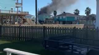House on fire crystal beach texas