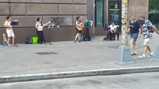 Wonderful NYC Street Music Group on a Saturday