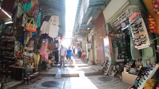Walking through the Old City of Jerusalem