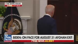 Biden once again does not take questions