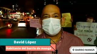 Protesta en Manga por inseguridad