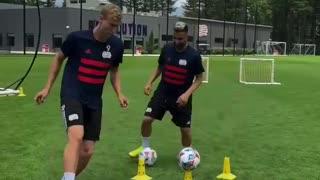 Training skills with New England Revolution MLS player Adam Buksa