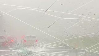 Hail Storm Wreaks Havoc on Highway