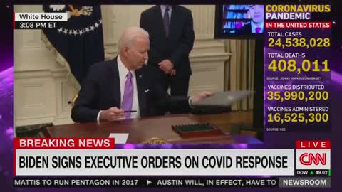 Biden Snaps at Reporter Noting that the U.S. Is Already on Pace of 100 Mil. Vaccinations in 100 Days