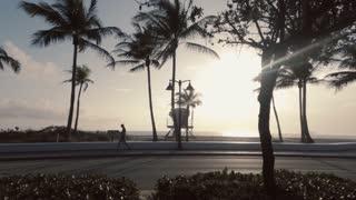 Driving road trip beaches Los Angeles California