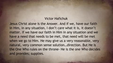 Jesus Christ Alone Is the Answer