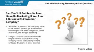LinkedIn Marketing Frequently Asked Questions