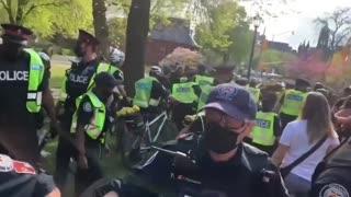 Violent Arrests Made At Anti Lockdown Protest In Toronto, Ontario Canada