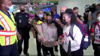 Fans, family welcome Simone Biles back to Houston