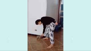 Dance with his little dog