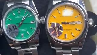 Men's wristwatch of the global Rolex brand in very beautiful and wonderful colors