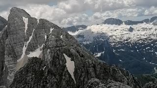 climbing mountain in italy