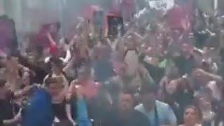 Dutch protestors dance against COVID restrictions