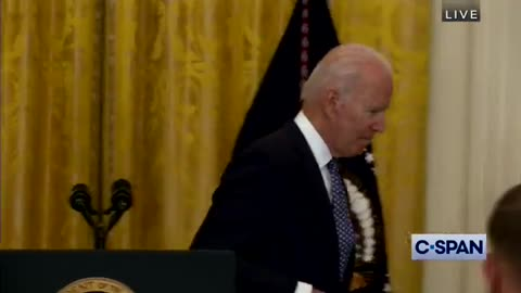 Biden Comments at End of remarks: 'I Am Supposed to Stop and Walk Out of the Room Now'