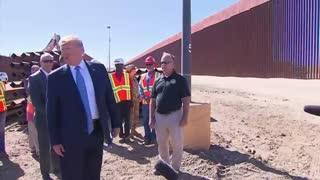 Trump signs border wall at U.S. Mexico border