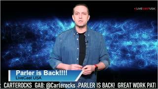Parler is back online. Follow me @Carterocks