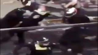 Australian Rambo taking down corrupt police at Vaccine Protest