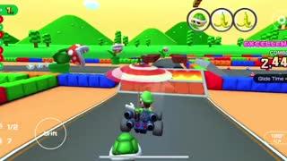 Mario Kart Tour - RMX Mario Circuit 1R/T Gameplay (Mario vs. Luigi Tour)