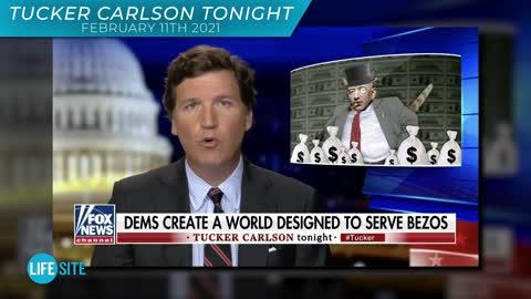 Tucker slams YouTube for banning LifeSiteNews