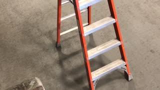 Ladder Walks Away by Itself