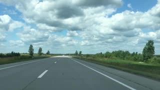 Beautiful road from Ukraine to Europe