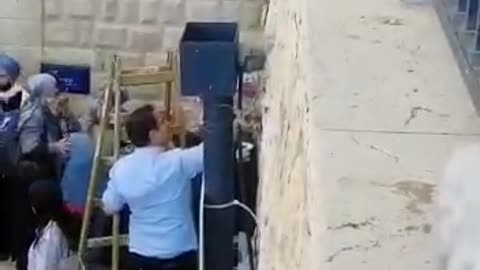 Removing the cameras from Meron the day before