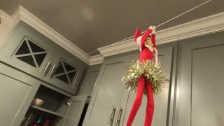 Elf on the Shelf Hanging on Rope!