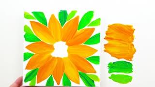 Plastic paper painting technique, too simple