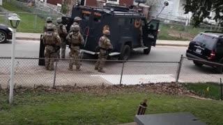 Police Officers Arrest Bystander Recording Raid