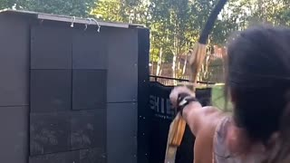 Young Woman Displays Incredible Skills with a Bow