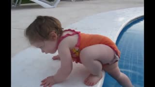 2 years old baby swimming in pool ! must watch