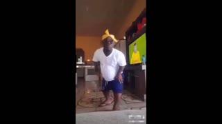 Funny video with grandpa skills on bike 80 year