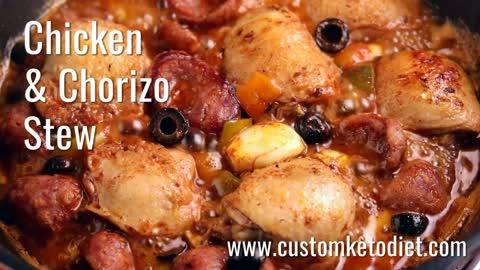 Keto Chicken and Chorizo Stew