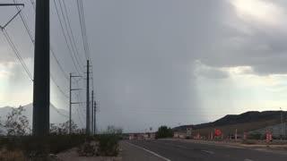 Amazing Microburst Raincloud over Arizona During the Monsoon Today