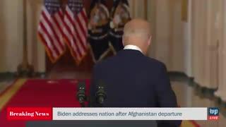 Biden Flees Podium And Ignores Reporters After Speech On Afghanistan