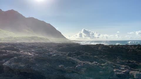 Sea Spray at Ka'ena Point Oahu, Hawaii